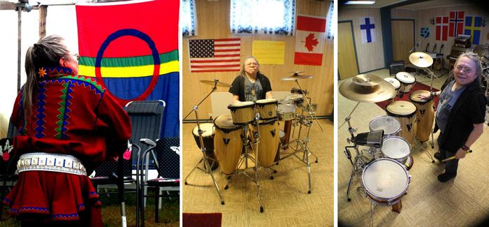 Piera J. Somby - Nord-Amerika og samiske flagg